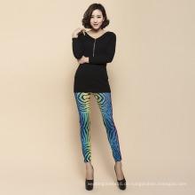 Frauenbekleidung Drucken Nahtlose Hosen Leggings