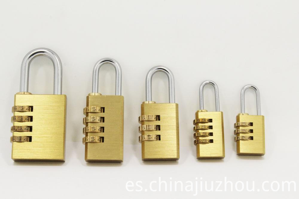 Different Size Brass Combination Lock