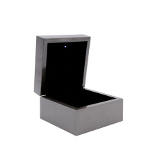 Custom square gray black red Plastic Jewelry Packaging box with LED light