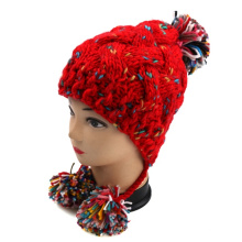2016 Newest Styles Ladies Chunky Hand Knit Hat Earflap Design