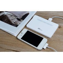 Dual Usb Rechargeable Li-polymer Battery Pack , Portable 4000mah Iphone 5s Power Bank