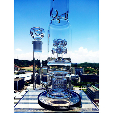 Hb King New Design Button Birdcage Perc Glass Pipe with Wholesale Price