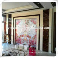 wooden wall tv panelling design