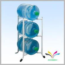 Suporte de chão de metal durável 3 níveis 3 galões Suporte de indicador de garrafa de água