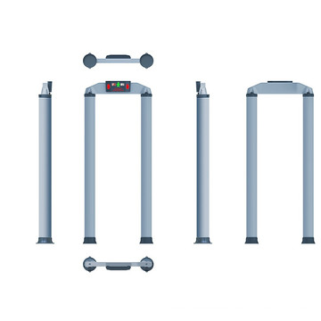 Detectores de metales a través de una sola zona