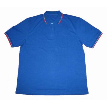 Double ribbon Contrast color POLO shirt Men's t-shirt