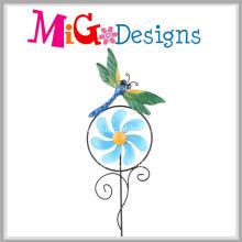 Popular for Market Metal Flower Garden Stake Wind Spinner