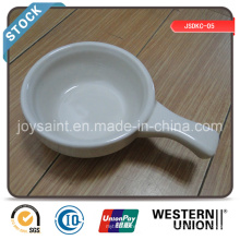 5′′ Soup Plate with Handle in Stock