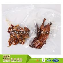 Bolsas de embalaje de pollo asado entero congelado de encargo de la categoría alimenticia de empaquetado de la categoría alimenticia de nylon transparente del vacío
