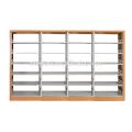 Moderne utilisé meilleur vente cadre en métal couverture en bois bibliothèque étagère