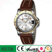 Top Sell Fashion Menwrist Genuine Leather Strap Watch