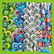 precio de fábrica de color mezclado y perlas de vidrio millefiori de muchas formas
