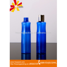 blue personalized shampoo bottle