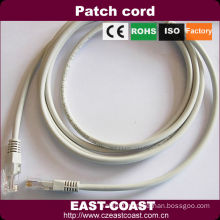 Grey Color RJ45 male to male patch cords
