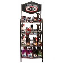 Floor Metal Rack Aceite de motor Tienda Minorista 4-Layer Motor Oil Publicidad Lubricating Oil Display Shelf