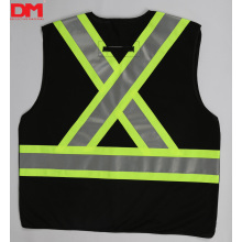 Black Hi-vis Surveyor Safety Vest ANSI Class 2
