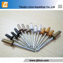 Alumínio da cabeça da abóbada da extremidade aberta DIN7337 / rebites cegos de aço