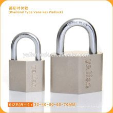 Nickle Plated Unique Type Daimond Padlock