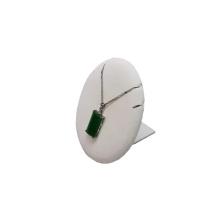 Base redonda da exposição do pendente da jóia do plutônio do couro do MDF (PN-WL-2)