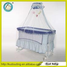 Fornecedor do ouro cama do berço do bebê da porcelana