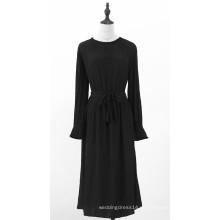 Schwarze Langarmkleider für Damen