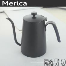 Chaleira de café de aço inoxidável 600ml