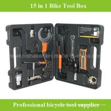 Caixa de ferramentas de reparação de bicicletas de 15 em 1 mais barata