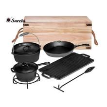 Amazon caliente vender durables de hierro fundido utensilios de cocina para exterior
