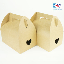 boîte jetable jetable de gâteau de papier de métier avec