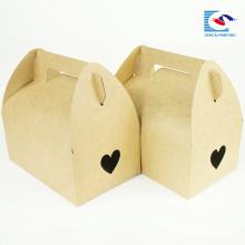 одноразовые вырубной крафт-бумаги торт коробки с