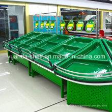 Cremalheira do armazenamento da exposição do vegetal de fruto para o supermercado