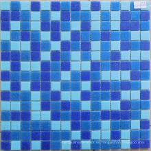 Mezcla barata del precio Mosaicos del vidrio de los colores azules