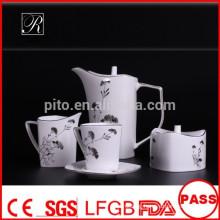 P&T 2015 new product bone china tea set coffee set with elegant design