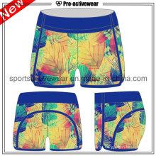 OEM cintura alta fitness algodão mulheres Running Shorts