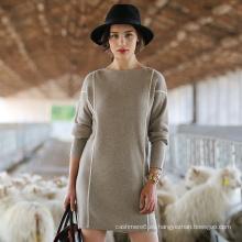 Suéter de cachemira estilo largo de las mujeres, prendas de punto de la señora