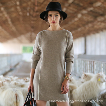 Women′s Long Style Cashmere Sweater, Lady′s Knitwear