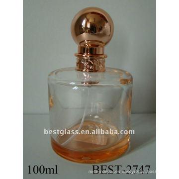 Botella de perfume cilíndrica de 100 ml