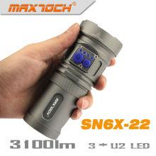 Maxtoch SN6X-22 U2 3 * 18650 batería Pack ultrabrillante policía linterna