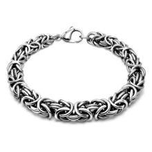 Pulseras de cadena de pulsera de joyería de acero Color de bola de plata para hombres