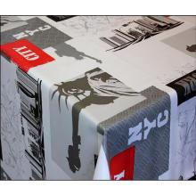 Housses de table imprimées en pvc et plus