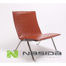 Replica Popular brown leather Poul Kjaerholm PK22 easy chair