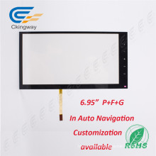 "6.95"" Ratio 16: 9 4 Wire Resistive LCD Panel"