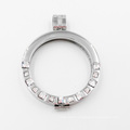 New Arrival 316L Stainless Steel Locket with Half Circle Big Sq Stones