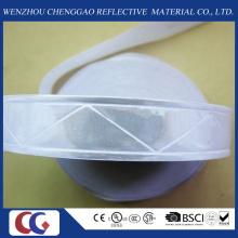 Reines weißes reflektierendes PVC-Band mit Kristallgitter