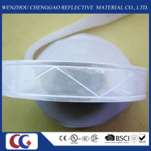 Pure White PVC Reflective Tape with Crystal Lattice