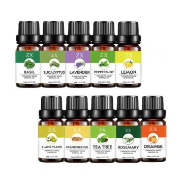 100% d'huile essentielle pure 10 pour l'aromathérapie