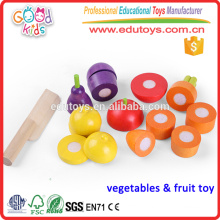 Hot Sale Kids Pretend Play Eggplant Children Wooden Vegetables Toys