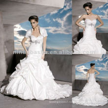 Нью-Йорк-2506 на шнуровке сзади и драгоценные мотив на Лифе свадебного платья