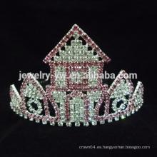 """3 """"coronas rojas del desfile del castillo del rhinestone para los cabritos"""