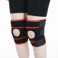 Wholesale OEM Black and Red Knee Protection Pad with Spring